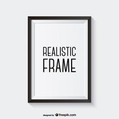 Realistic vector frame Free Vector