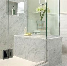 Bathroomfancywhitebathroomdesignideaswithbasketweavemarble Adorable Marble Bathroom Designs Inspiration Design