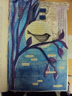 #Can be a poster too- maybe with newspaper?    :)  Altered Book page