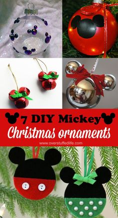 DIY Mickey Mouse Christmas Ornaments Easy DIY Disney-themed ornaments for Christmas—decorate your tree with Mickey and Minnie!Easy DIY Disney-themed ornaments for Christmas—decorate your tree with Mickey and Minnie! Disney Christmas Crafts, Mickey Mouse Christmas Ornament, Disney Christmas Decorations, Christmas Tree Themes, Christmas Tree Ornaments, Holiday Crafts, Diy Ornaments, Disney Crafts, Ornament Storage