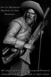 Preview; 1:9th scale Earl of Manchester Musketeer Bust/Half