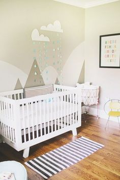 Awesome Boy's Nursery With A Neutral Base And Vivid Accents