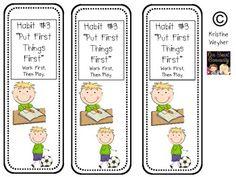 Leader In Me ~ 7 Habits Bookmarks