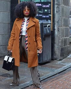 Transitional weather between winter and spring can be beyond tricky. Take a look at what to wear when the temperature says 40 degrees. Fall Outfits For Work, Spring Outfits, Coachella, Boho Outfits, Girl Outfits, Fashion Outfits, Trendy Outfits, Animal Print Pants, Who What Wear