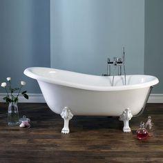 Een asymmetrisch bad de ene kant is hoger dan de andere kant