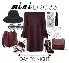 """""""Mini Dress"""" by isis-anubis5 ❤ liked on Polyvore featuring Maison Michel, Zac Posen, French Blu, Givenchy, Tom Ford, Smashbox, DayToNight, chic, holiday and minidress"""