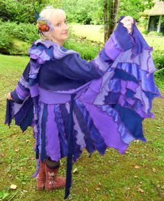 Fairytea - Upcycled Sweater - gypsy fairy elf coat