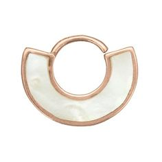 rose gold and mother of pearl septum ring