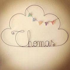 """Nuage prénom et fanions garçon """"Thomas"""" - Little You - Kidstore"""