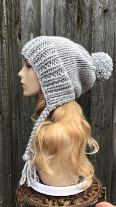 Loom Hats, Loom Knit Hat, Loom Knitting, Hand Knitting, Crochet Winter Hats, Knit Or Crochet, Crochet Hats, Crochet Beanie, Knitted Dolls