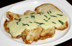filetes de pollo con salsa de queso
