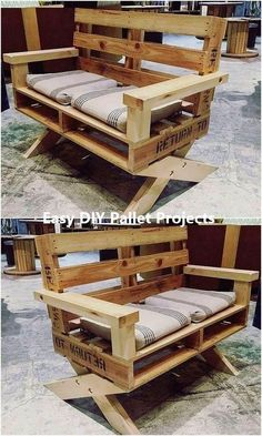 Pallet DIY Projects DIY-Ideen mit Holzpaletten Immigration Rally Was a Valuable Lesson Fo Pallet Furniture Designs, Wooden Pallet Projects, Wooden Pallet Furniture, Woodworking Furniture, Wooden Pallets, Pallet Ideas, Woodworking Projects, Diy Furniture, Diy Projects