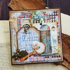 """Сегодня хочу показать вам мою мужскую открытку для четвертого этапа СП """"Магазинчик волшебных открыток"""". Сделала из потрясающей коллекции бумаги Sherlock Holmes от BeeShabby @beeshabby #beeshabby #scrapbooking #scrap #cardmaking #handicraft #handmade #скраптовары #скрапбукинг #открыткиручнойработы #товарыдлятворчества #открыткиназаказ #кардмейкинг #vsco #vscocam #vscorus"""