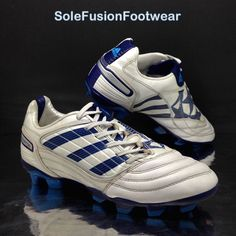 newest 3fb36 6b5cd adidas Mens Predator Football Boots WhiteBlue Size 7 AG XTRX Absolado EU  40 2