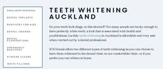 If you are searching for a dentist that deeply cares about your teeth whitening, then SOS Dental is the perfect choice for you. http://sosdentalclinic.co.nz/services/teeth-whitening/