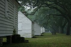 The haunted McLeod Plantation with restored slave quarters - Photo taken in 2009 - Charleston County, South Carolina