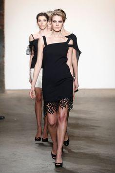 Model Bruna Marx Walks The Runway Wearing Minan Wong At