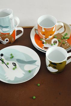 all Forest Animal ceramic series