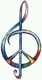 Peace Music Note~ This would make a awesome tattoo!