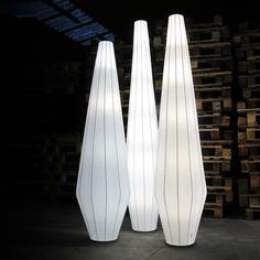 Unique lamps which are really tall adds light to a dark room. Unique Lamps, Unique Lighting, Lighting Design, White Floor Lamp, Floor Lamps, Delta Light, Compact Fluorescent Bulbs, Incandescent Bulbs, Lamp Design