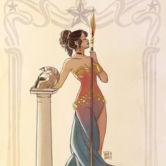 "pinuparena:    ""Wonder Woman meets Leslie Caron in Gigi "" ByValentina Pinto"