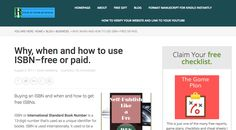 Why, when and how to use ISBN–free or paid for your books on Amazon and Kindle