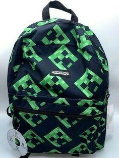 School Tote, School Bags, Minecraft Backpack, Backpack Brands, 3 In One, Cute Bags, School Backpacks, Creepers, Graphics