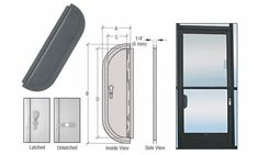 CRL Bronze Anodized x Deluxe Mail Slot With Glass Channel Bar and Latch Medical Office Design, Shelving Systems, Extruded Aluminum, Display Shelves, Bronze Finish, Cut Glass, Knock Knock, Slot, Channel