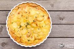 bacon cream pie baked bacon step by step Cheesy Potato Casserole, Potato Pie, Potato Recipes, Side Recipes, Brunch Recipes, Quiches, Deli Food, Cooking Recipes, Healthy Recipes