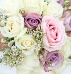 Here is another look at roses with wax flower ...reception wedding flowers,  wedding decor, wedding flower centerpiece, wedding flower arrangement, add pic source on comment and we will update it. www.myfloweraffair.com can create this beautiful wedding flower look.