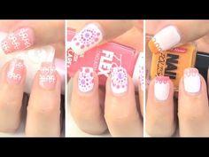 Diseños de uñas con puntos - YouTube