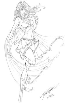 Supergirl Commission - finished inks by jamietyndall on DeviantArt