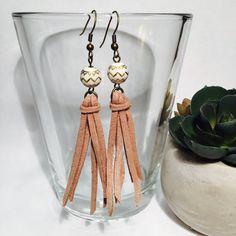 Tassel Earrings Boho Suede Tassel Earrings in by TheDaintyBauble