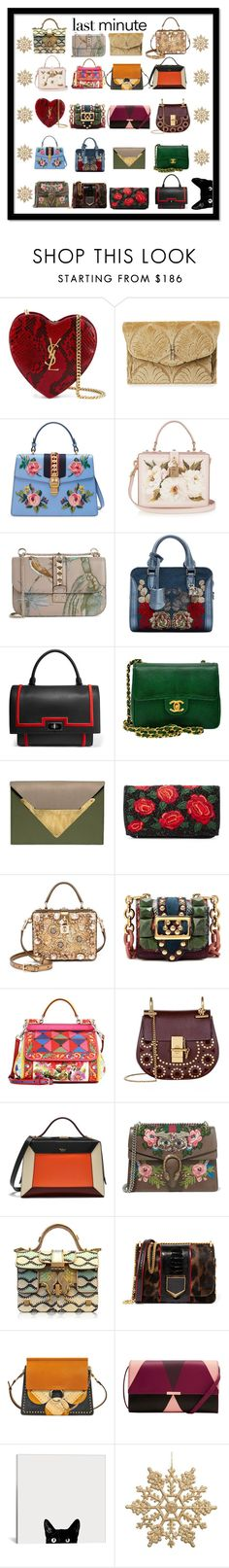 """""""A Girl Can Never Have Too Many Bags"""" by atheris ❤ liked on Polyvore featuring Yves Saint Laurent, Hayward, Gucci, Dolce&Gabbana, Valentino, Alexander McQueen, Givenchy, Chanel, Dareen Hakim and Alice + Olivia"""