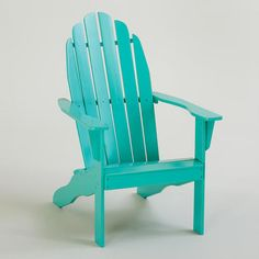 Blue Turquoise Classic Adirondack Chair available in-store only Cost Plus World Market >>  #WorldMarket Movie Night Giveaway Sweepstakes - http://sweeps.piqora.com/worldmarket