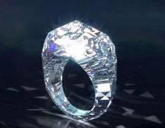 Shawish Jewelry of Switzerland has introduced a 150-carat ring it says was cut completely from a single diamond.