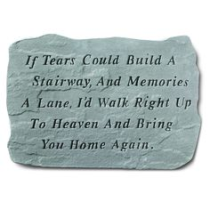 Kay Berry 'If Tears Could Build' Garden Accent Stone (If tears could build...), Gray, Outdoor Décor