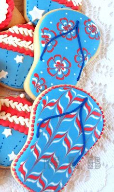 My little bakery :): Patriotic cookie set