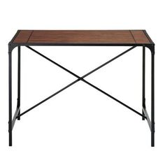 Home Decorators Collection Industrial Empire Pub Table in Black-0823000910 at The Home Depot