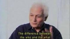 l'amour ou la morte? Jacques Derrida On Love and Being, via YouTube.