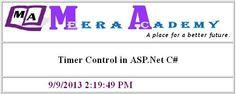 timer control in asp.net website