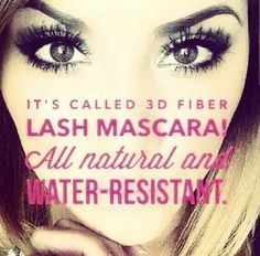 Younique 3D Mascara is made from 100% Green Tea Collagen and Fibers- so it helps with regrowth! The fibers are different lengths for a more natural look! It's buildable, so you can put on as many coats to achieve the look you want. NOT permanent or damaging, no glue, no mess, inexpensive! #youniquemascara #youniqueproducts #younique #youniquemakeup #eyes #lashes