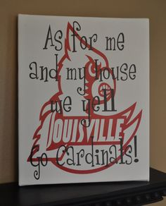 Louisville Cardinals Canvas by customvinylbydesign on Etsy, $20.00