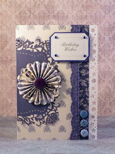 Birthday Wishes by Gail Wrigg - Papermania Capsule Collection - Parisienne Blue