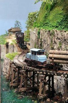 中井庸貴のユータアトリエ YutaAtelier 110429 1/87HOe森林鉄道スモールレイアウト
