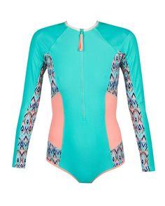 Body Glove Tarahiki Paddle Suit One Piece Swimsuit