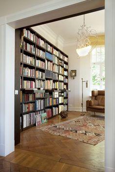 bibliothek fr zuhause - Unbehandelte Ziegelwand