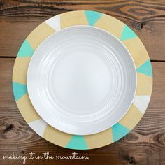 DIY Painted Wooden Charger Plates
