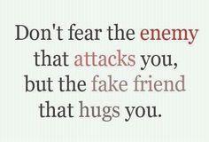Fake friends ruin lives.