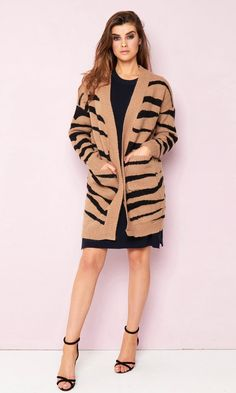 67da3508a7 Camel Zebra Cardigan Add abit of print to your outfit